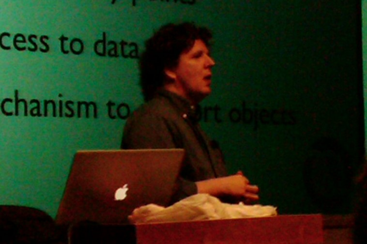 Rich Hickey, inventor of Clojure language, speaking at NovaJUG